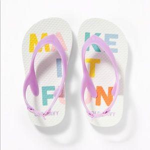 "NWT Old Navy ""Make It Fun"" Flip Flops Size 11"